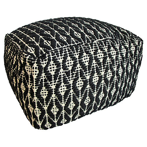 Tribal Onyx Kilim Floor Pouf