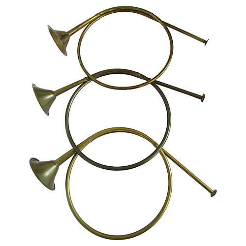 Christmas French Brass Horn's S/3