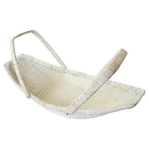Natural White Woven Basket