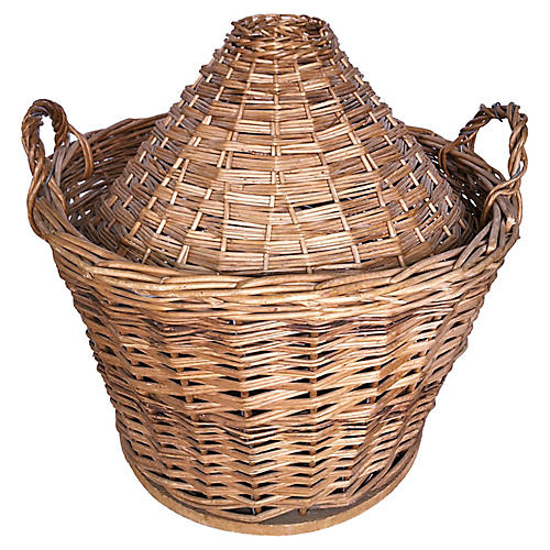 French Demijohn Basket