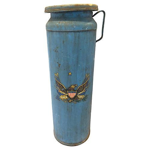 Antique Patriotic Eagle Milk Can