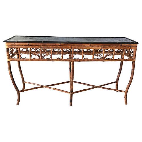 Natural Bamboo Tortoise Console