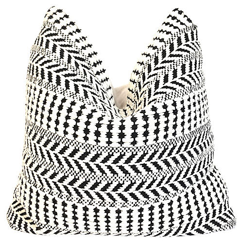 White & Black Tribal Pillow
