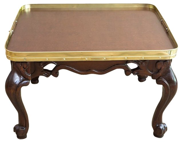 Walnut & Brass Coffee Table