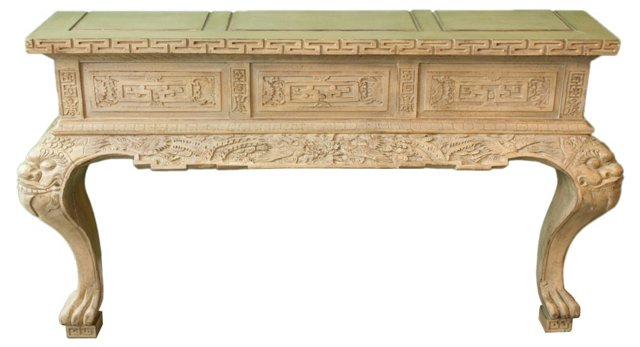 Chinoiserie Carved Console