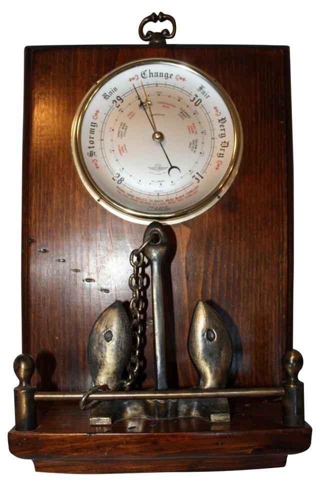 English Brass Nautical Barometer