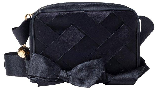Chanel Silk Evening Bag w/ Bow Strap