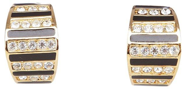 Christian Dior  Rhinestone Earrings