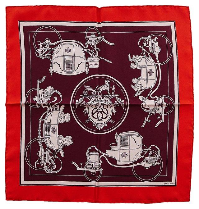 Hermès Silk Carriage Pocket Scarf