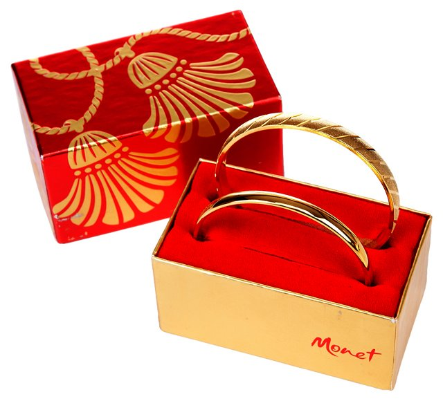 Goldtone Monet Bangles, Pair