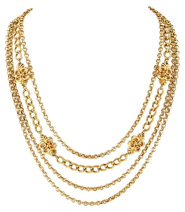 1970s Monet Goldtone Chain Necklace