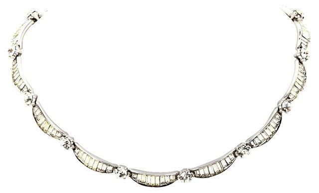 1960s Trifari Rhinestone Necklace