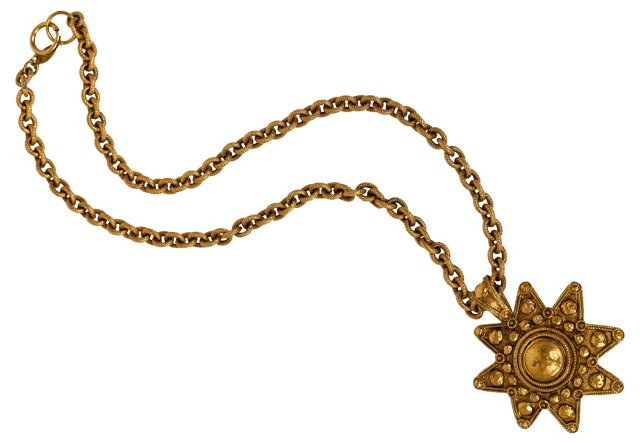 Chanel 80's Star Pendant Necklace