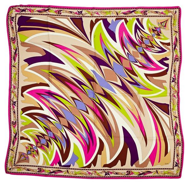 Pucci Geometric Silk Scarf