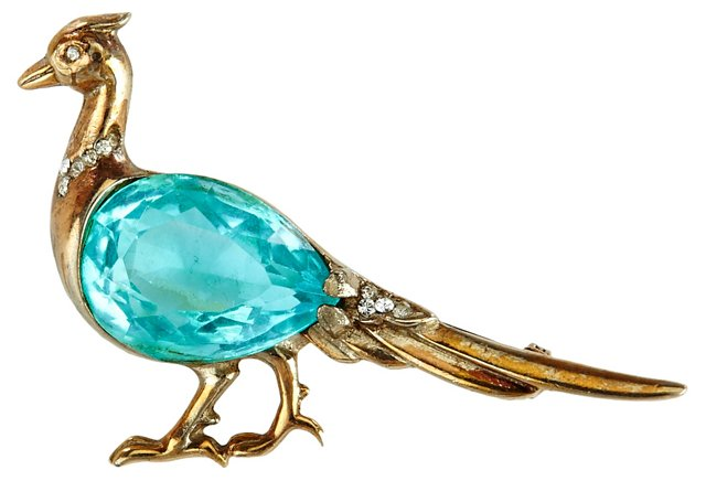 Reja Rare Sterling Silver Bird Pin