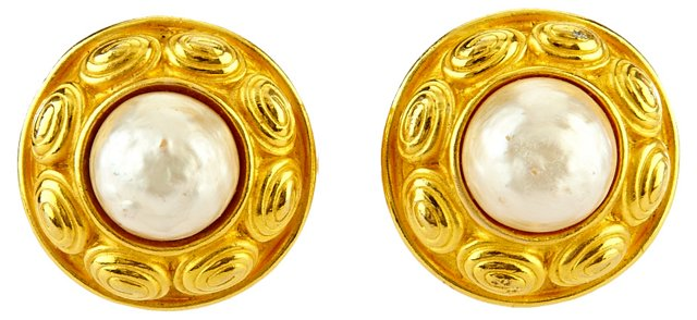 Carolina Herrera Faux-Pearl Earrings