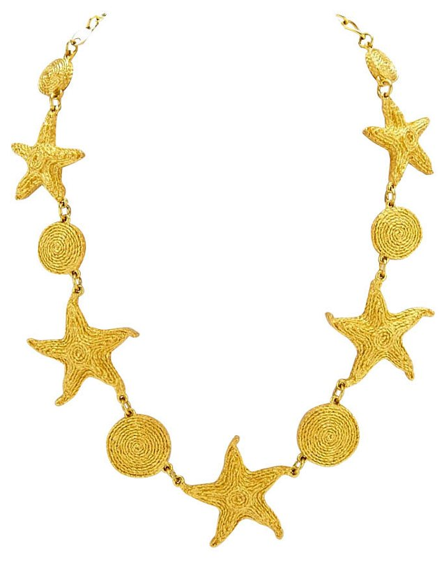 Trifari Goldtone Starfish Necklace