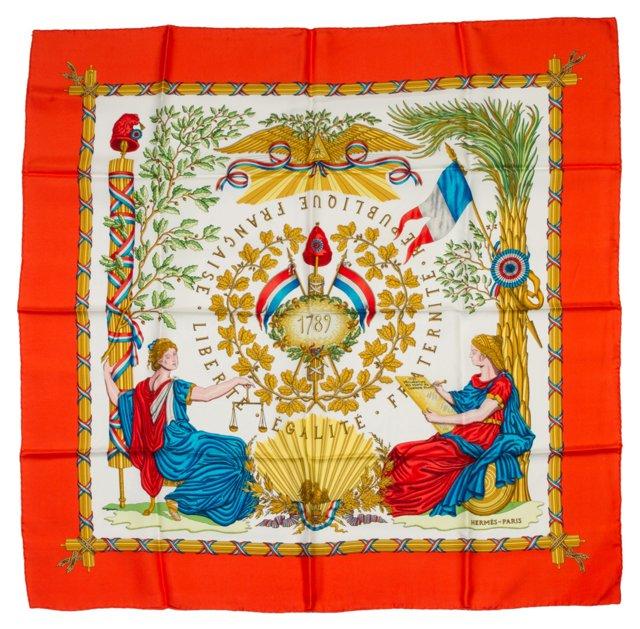 Hermès 1789 Liberte Silk Scarf by Metz