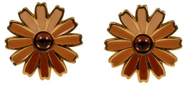 Givenchy Floral Enamel Earrings