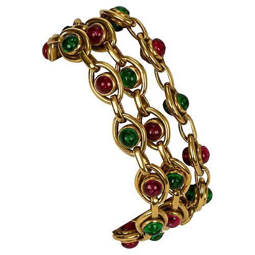 1970s Chanel Triple-Gripoix Bracelet