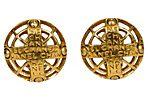 Chanel Byzantine Logo Round Earrings