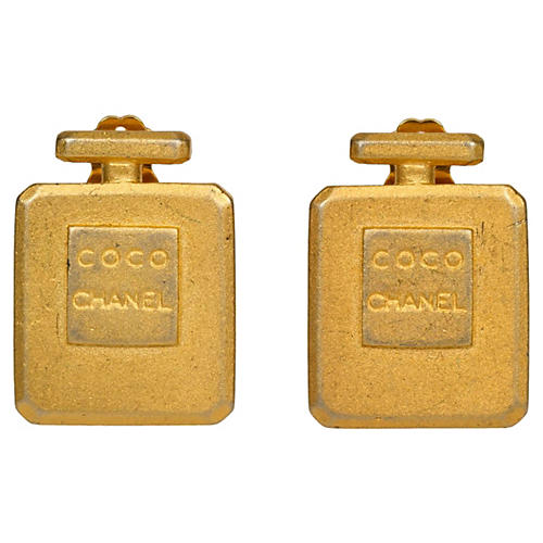 Chanel Collectible Coco Bottle Earrings