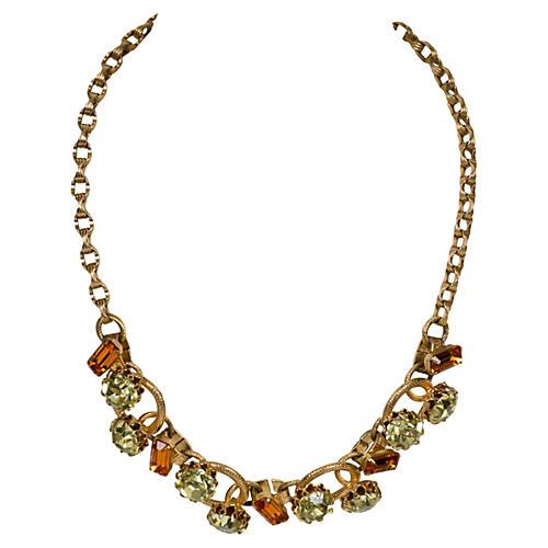 Juliana Citrine Stone Gold Necklace
