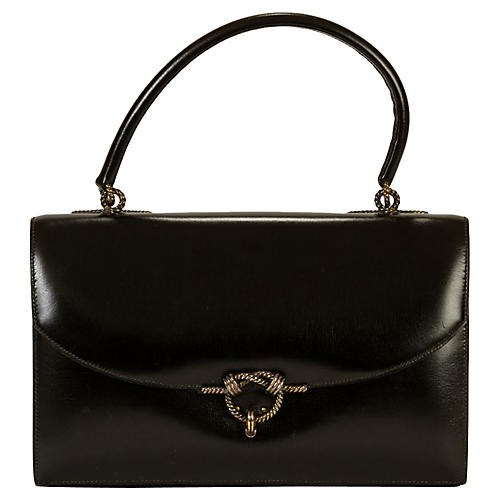 Hermès 1962 Box Calf Black Handbag