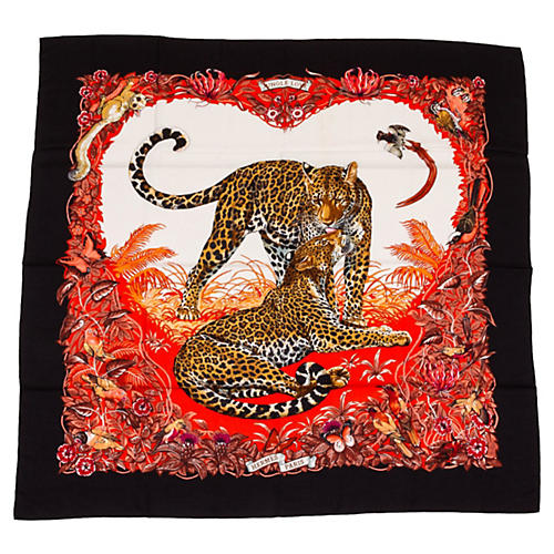 Hermès Dallet Jungle Love Cashmere Shawl