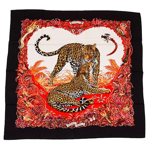 Hermès Dallet Jungle Love Cashmere Shawl