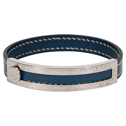 Hermès Adjustable Blue Bracelet