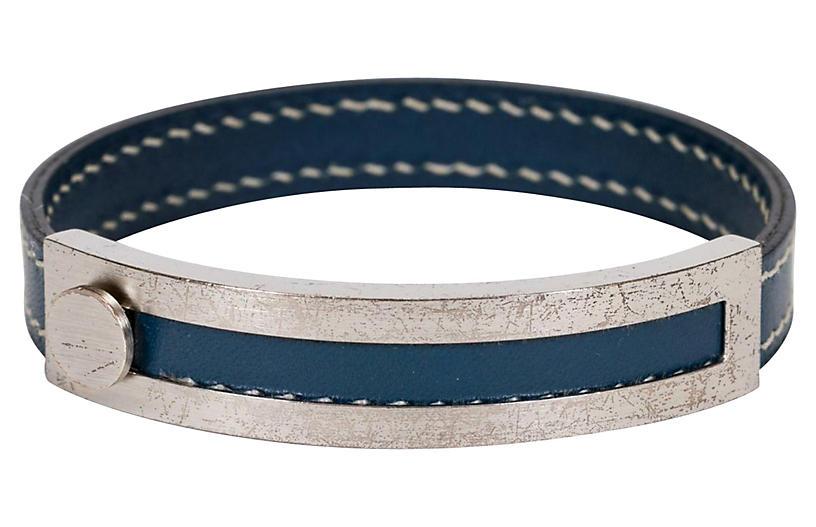 Hermès Adjustable Blue Bracelet