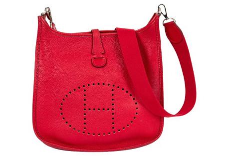 Hermès Medium Evelyne Rouge Casaque