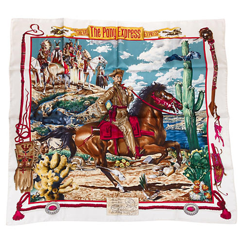 Hermès Silk Pony Express Scarf by Oliver