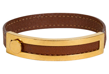 Hermès Gold & Brown Bracelet