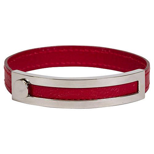 Hermès Sliding Red Palladium Bracelet
