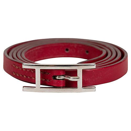 Hermès Red Wrap Around Bracelet