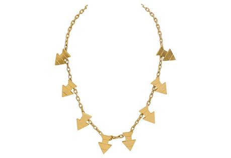 Pierre Cardin Gold Arrow Necklace
