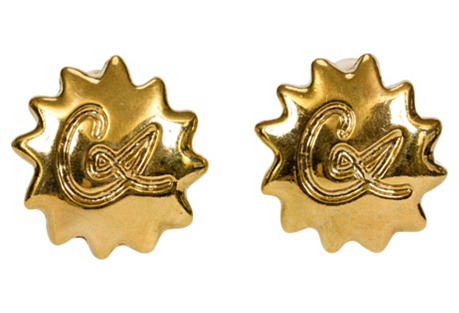Christian Lacroix Gold Logo Clip Earring