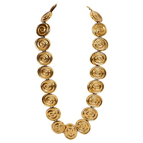 YSL Oversize Gold Necklace & Belt
