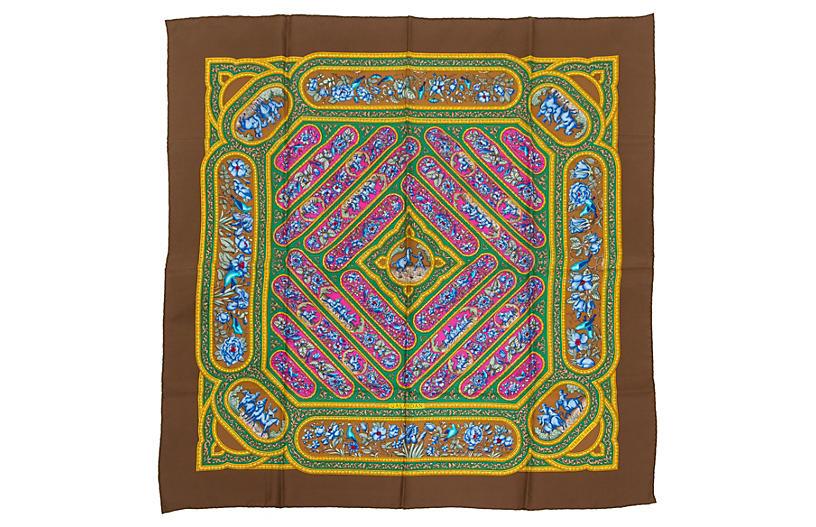 Hermès Qalamdan Silk Scarf