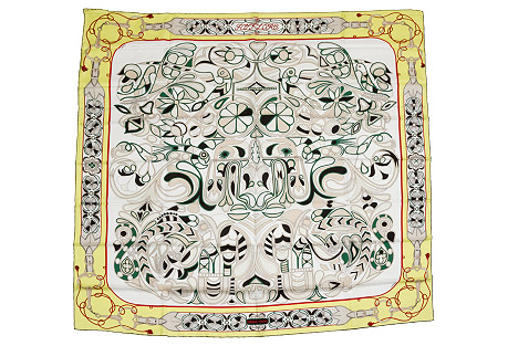 Hermès Folklore Oversize Scarf, D'Origny