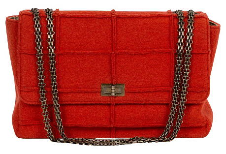 Chanel Rust Tweed Jumbo Flap