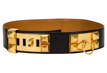 Hermès Collier De Chien Black Belt