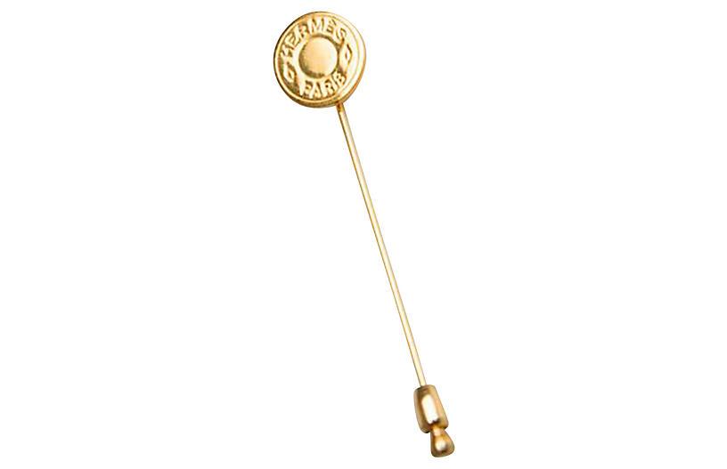 Hermès Gold Clou de Selle Pin