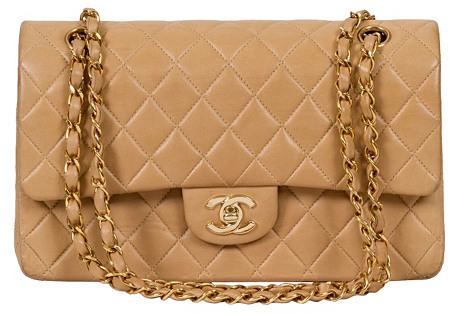 Chanel Beige Double-Flap Classic Bag