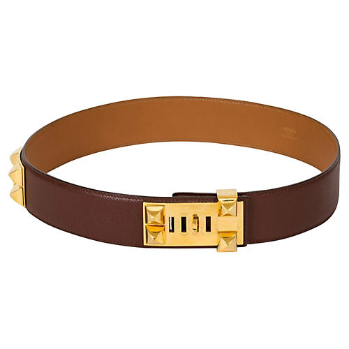 Hermès Brown Collier De Chien Belt