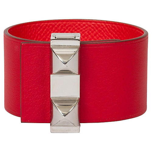 Hermès Reversible Red & Palladium Cuff