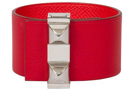 Hermès Reversible Red & Palladium Cuff