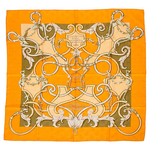 Hermès L 'Instruction du Roi Silk Scarf